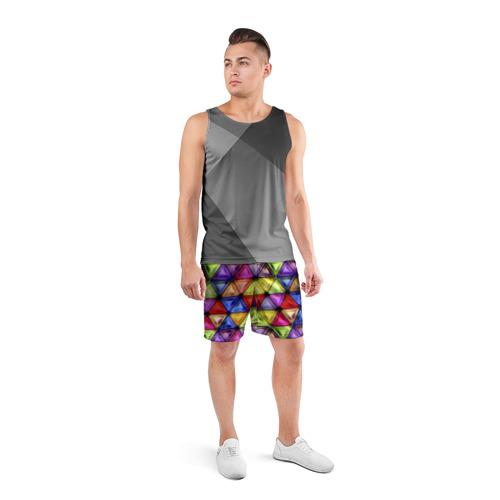 Мужские шорты 3D спортивные  Фото 04, Мазайка