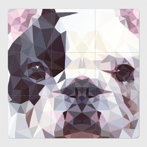 Магнитный плакат 3Х3 Низкополигональный пёс