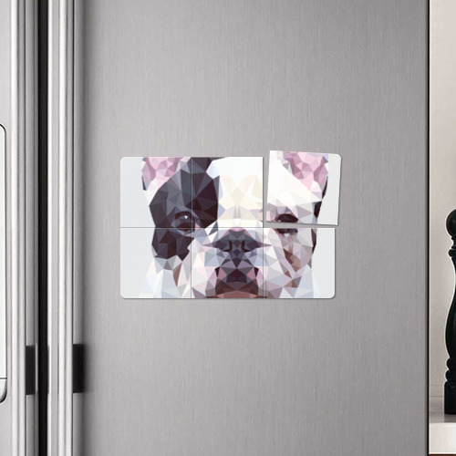 Магнитный плакат 3Х2  Фото 04, Низкополигональный пёс