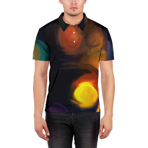 Мужская рубашка поло 3D  Фото 03, Живопись