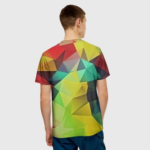 Мужская футболка 3D  Фото 02, Цветные грани