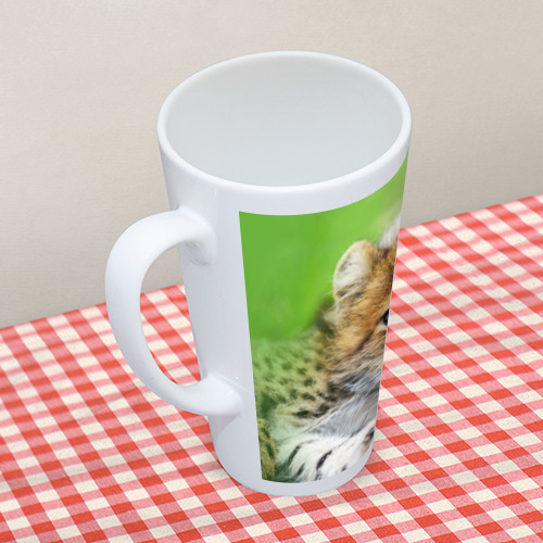 Кружка Латте Котёнок гепарда Фото 01