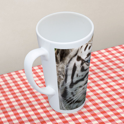Кружка Латте  Фото 05, Белый тигр
