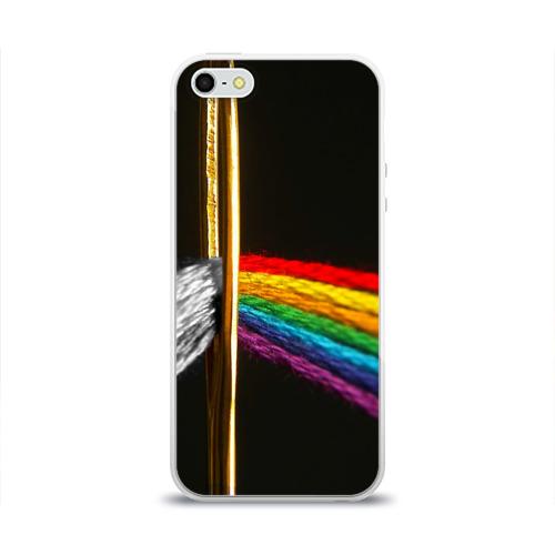 Чехол для Apple iPhone 5/5S силиконовый глянцевый Нити