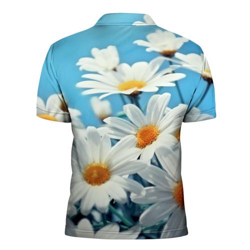 Мужская рубашка поло 3D  Фото 02, Ромашки