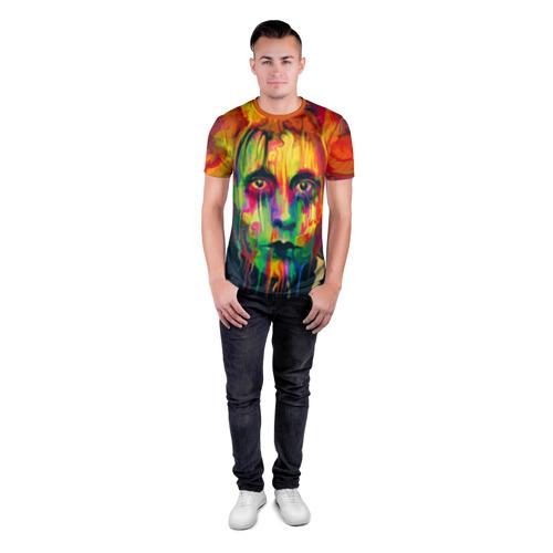 Мужская футболка 3D спортивная  Фото 04, Face art