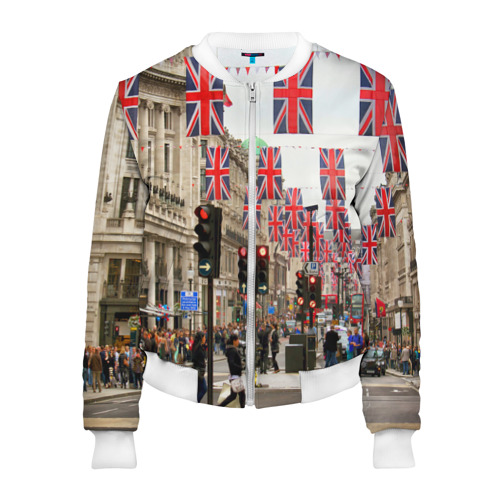 Женский бомбер 3D  Фото 01, Улицы Лондона