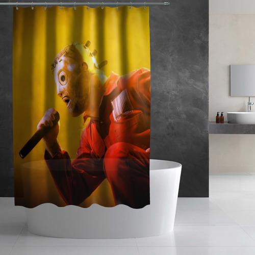 Штора 3D для ванной  Фото 02, Sing
