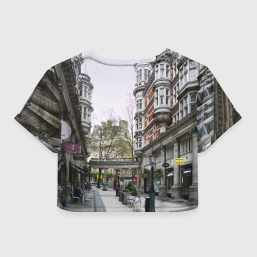 Женская футболка 3D укороченная  Фото 02, Улицы Лондона