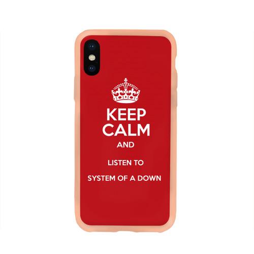Чехол для iPhone X глянцевый Keep Calm SOAD Фото 01