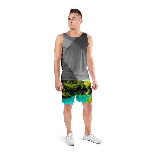 Мужские шорты 3D спортивные  Фото 04, Nature