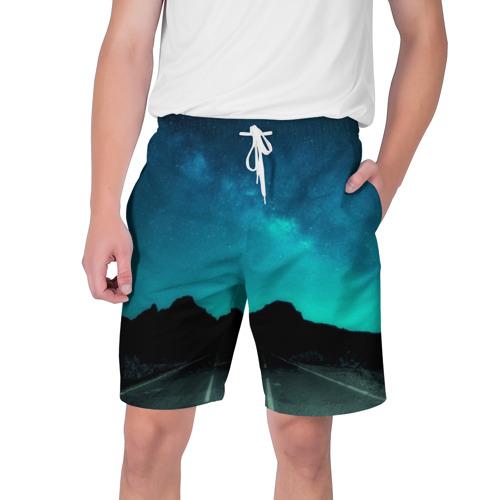 Мужские шорты 3D  Фото 01, Ночная дорога