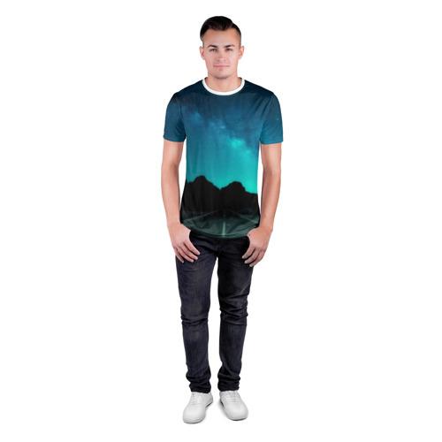 Мужская футболка 3D спортивная  Фото 04, Ночная дорога