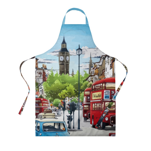 Фартук 3D Улицы Лондона