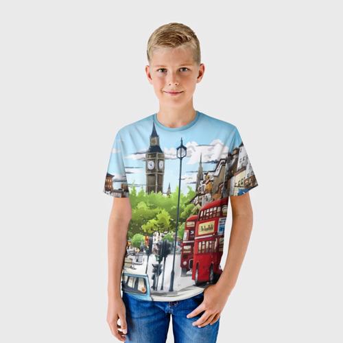 Детская футболка 3D Улицы Лондона