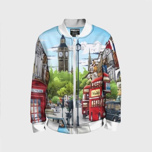 Детский бомбер 3D Улицы Лондона