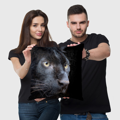 Подушка 3D Черная пантера Фото 01