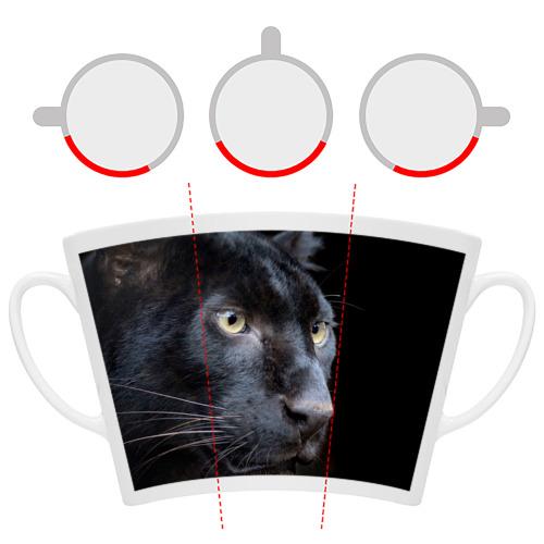 Кружка Латте  Фото 06, Черная пантера