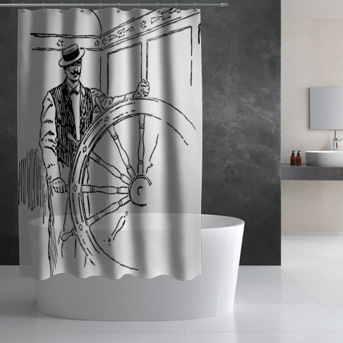 Штора 3D для ванной  Фото 02, Речник