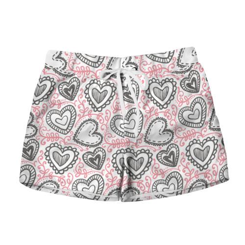 Женские шорты 3D Влюбленность