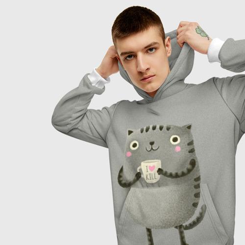 Мужская толстовка 3D Cat Love Kill