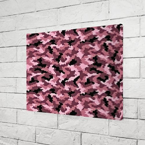 Холст прямоугольный  Фото 03, Розовый камуфляж