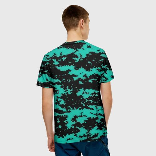 Мужская футболка 3D  Фото 02, Пиксели