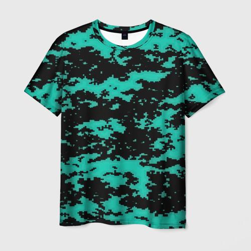 Мужская футболка 3D  Фото 03, Пиксели