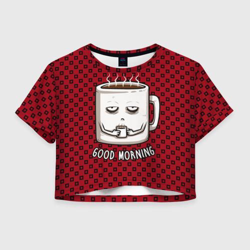 Женская футболка Cropp-top Good Morning