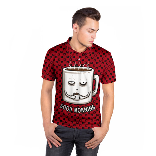 Мужская рубашка поло 3D  Фото 05, Good Morning