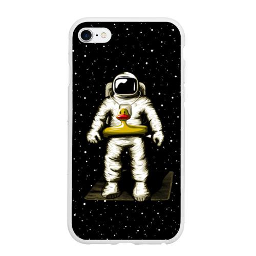 Чехол для iPhone 6Plus/6S Plus матовый Космонавт с уточкой Фото 01