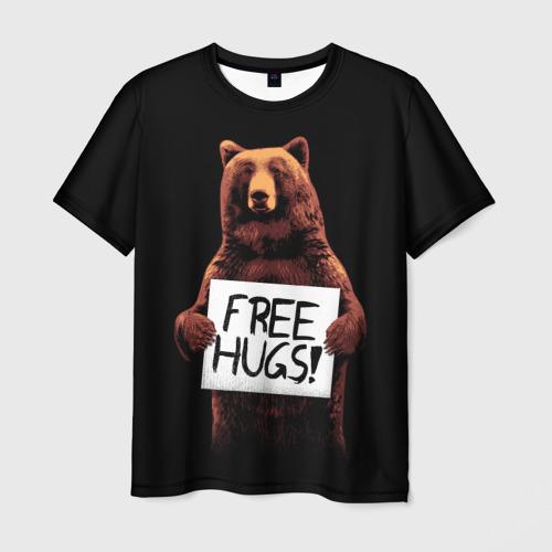 Мужская футболка 3D  Фото 01, Медвежьи обьятия