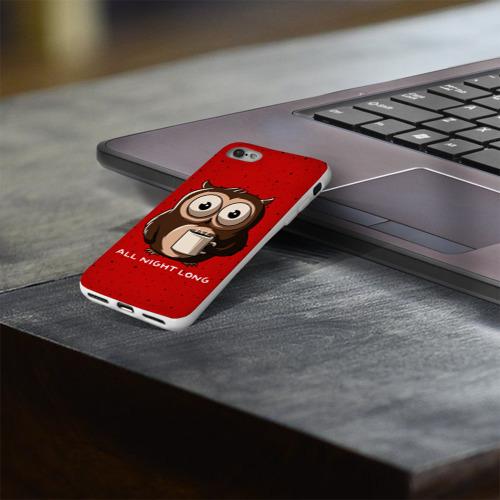 Чехол для Apple iPhone 8 силиконовый глянцевый  Фото 03, Ночная сова