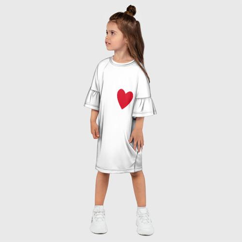Детское платье 3D  Фото 03, Сердечко