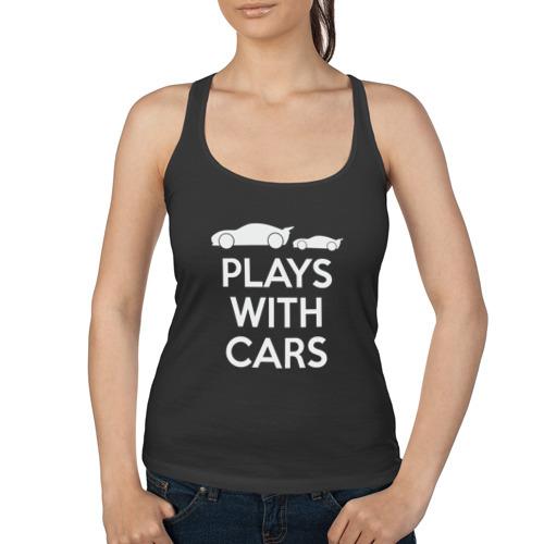 Женская майка борцовка  Фото 01, Plays with cars