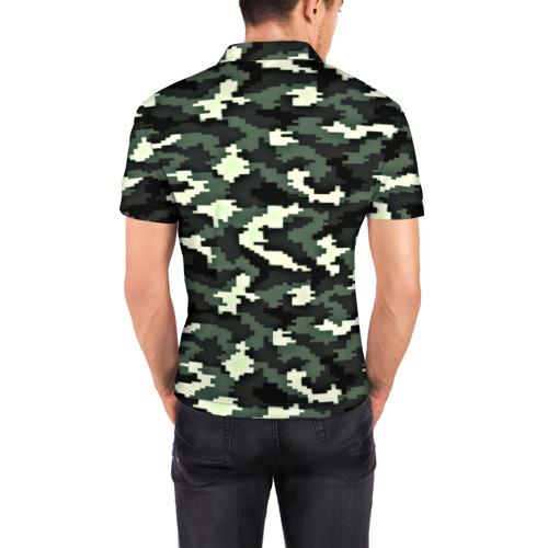 Мужская рубашка поло 3D  Фото 04, Пиксельный камуфляж