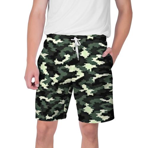 Мужские шорты 3D  Фото 01, Пиксельный камуфляж