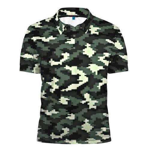 Мужская рубашка поло 3D  Фото 01, Пиксельный камуфляж