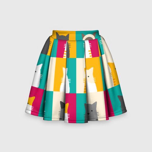 Детская юбка-солнце 3D Котейки 3
