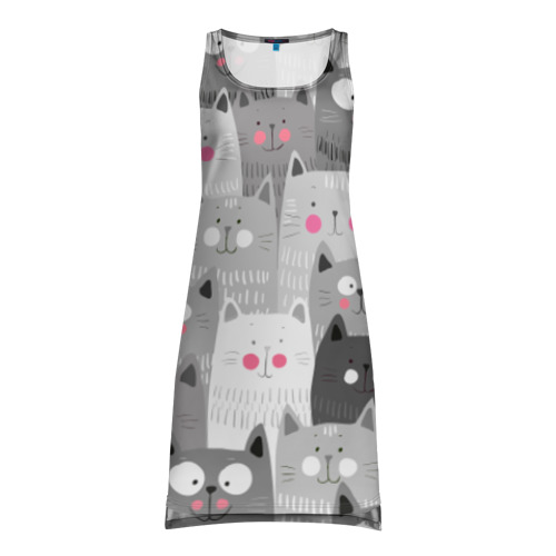 Платье-майка 3D Котейки 2