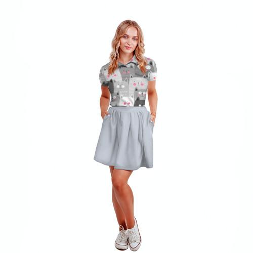 Женская рубашка поло 3D  Фото 04, Котейки 2