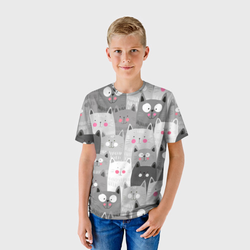 Детская футболка 3D Котейки 2