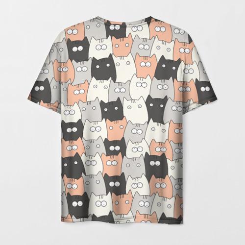 Мужская футболка 3D Котики Фото 01