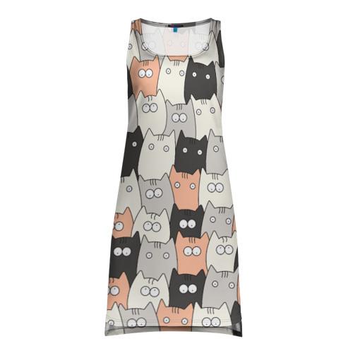 Платье-майка 3D Котики