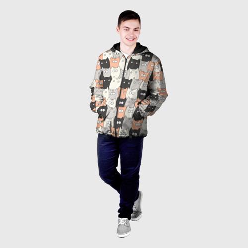Мужская куртка 3D Котики Фото 01