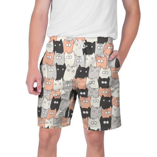 Мужские шорты 3D Котики