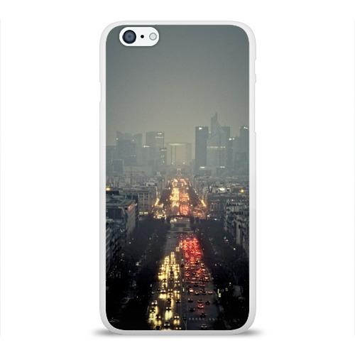 Чехол для Apple iPhone 6Plus/6SPlus силиконовый глянцевый  Фото 01, Ночной город