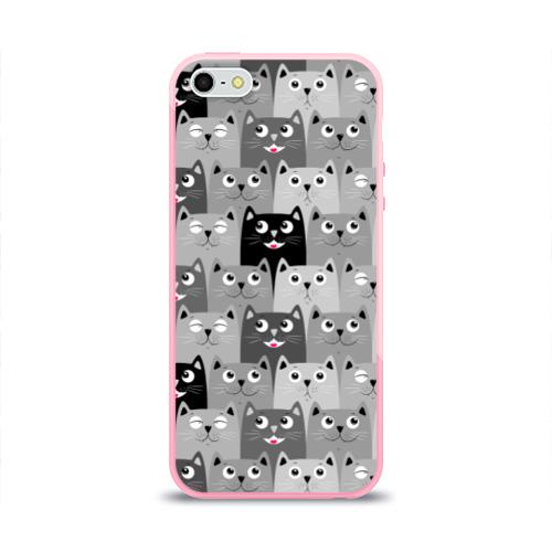 Чехол для iPhone 5/5S глянцевый Котейки Фото 01