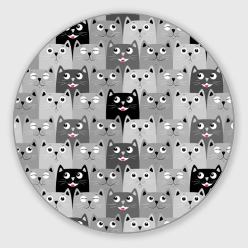 Коврик для мышки круглый Котейки Фото 01