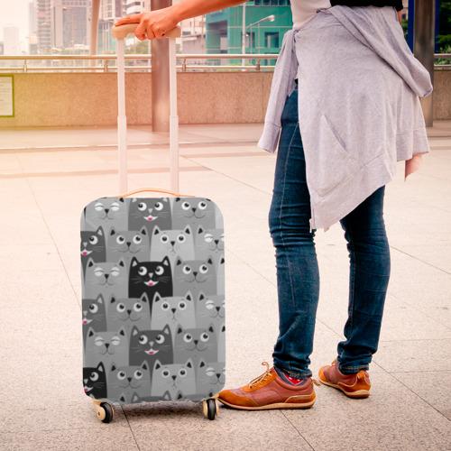 Чехол для чемодана 3D  Фото 04, Котейки